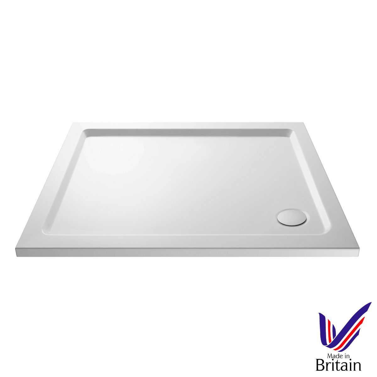 900 x 800 Shower Tray Rectangular Low Profile by Pearlstone