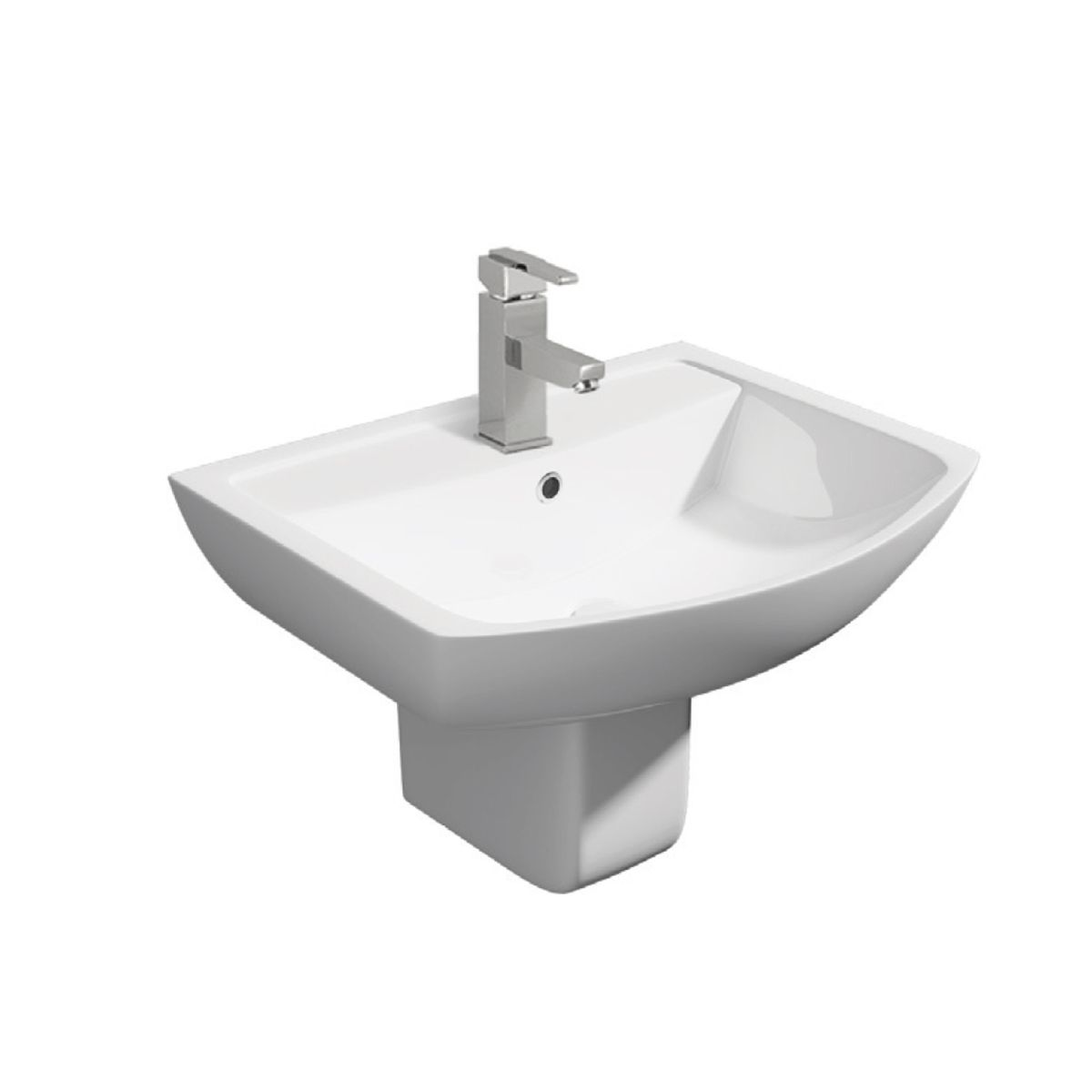 Kartell K-VIT Pure Basin with Semi Pedestal