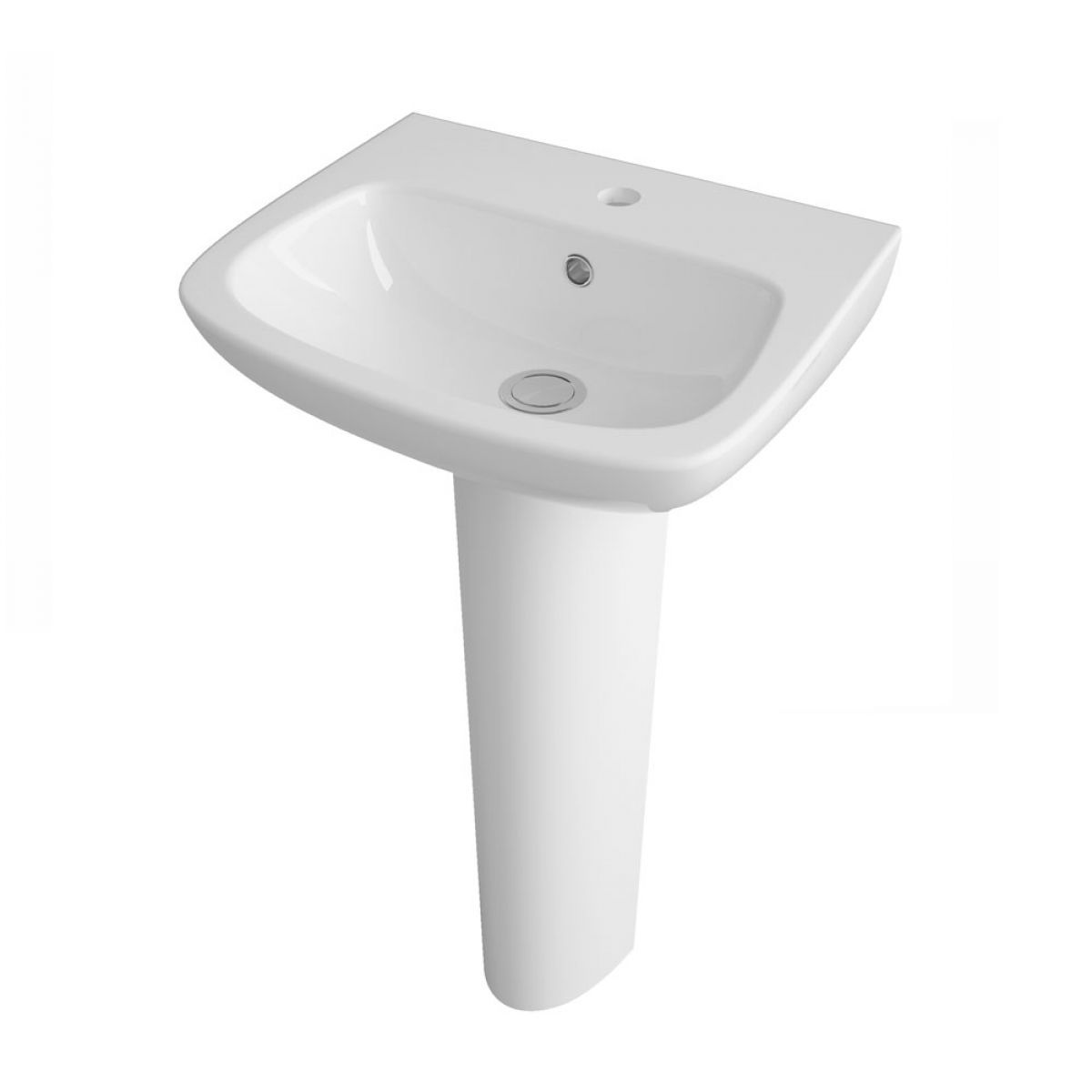 Nuie Ambrose 1 Tap Hole Basin with Full Pedestal 450mm