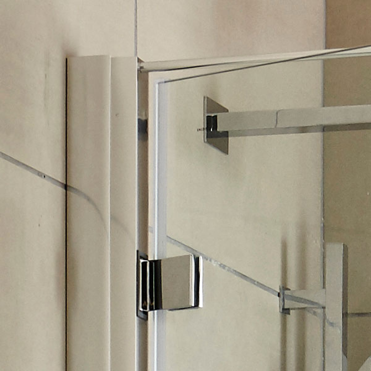 Hudson Reed Apex Hinged Shower Door with Optional Side Panel - Frame