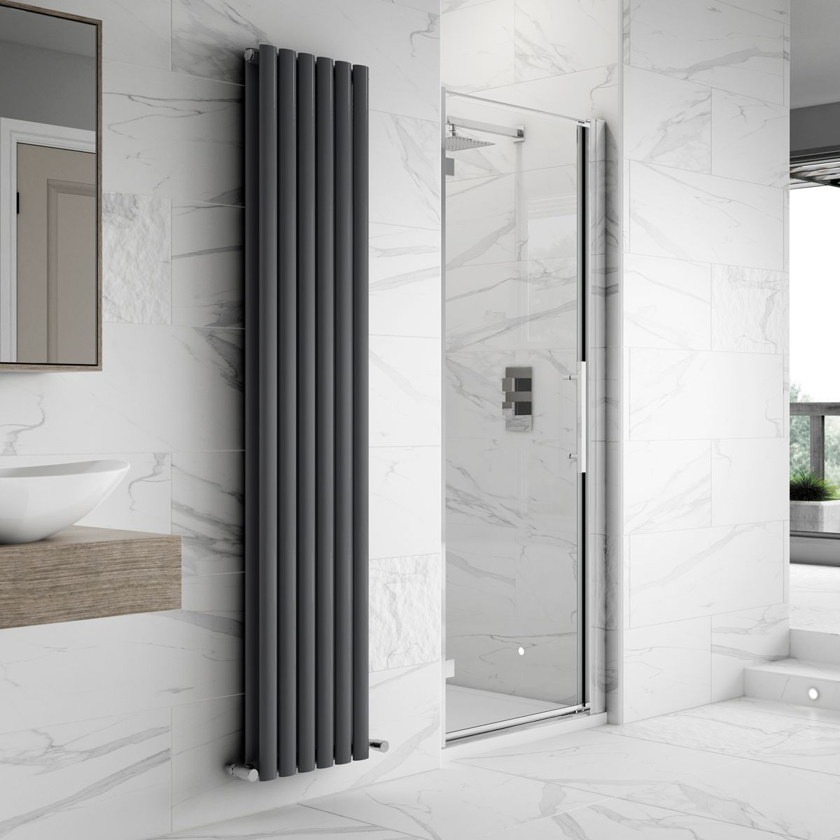 Hudson Reed Apex Hinged Shower Enclosure Recess