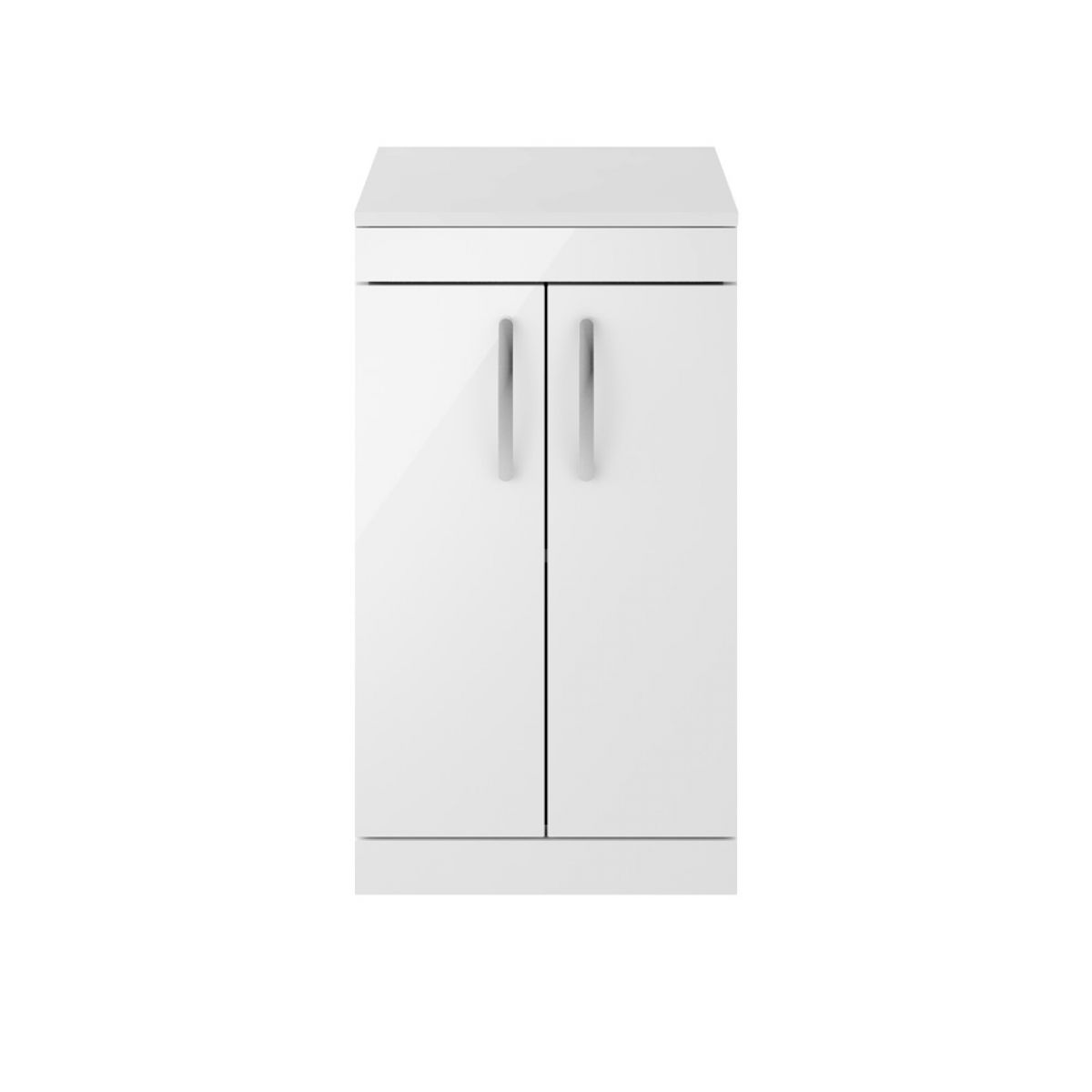 Premier Athena Gloss White 2 Door Floor Standing Vanity Unit 500mm with Worktop