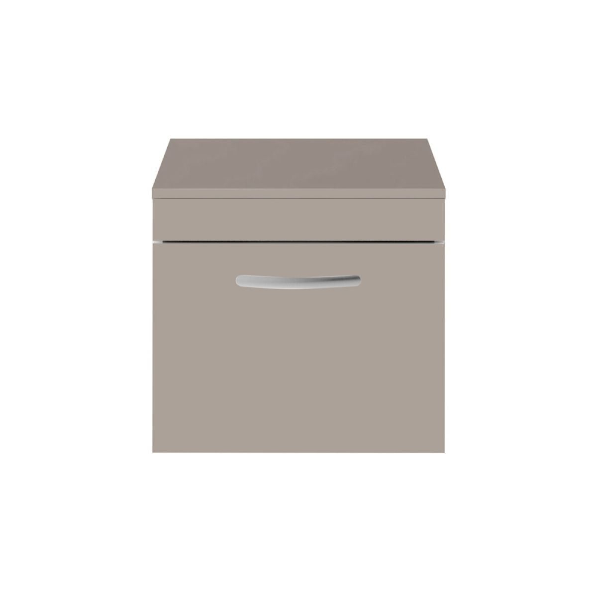 Premier Athena Stone Grey 1 Drawer Wall Hung Vanity Unit 500mm with Worktop