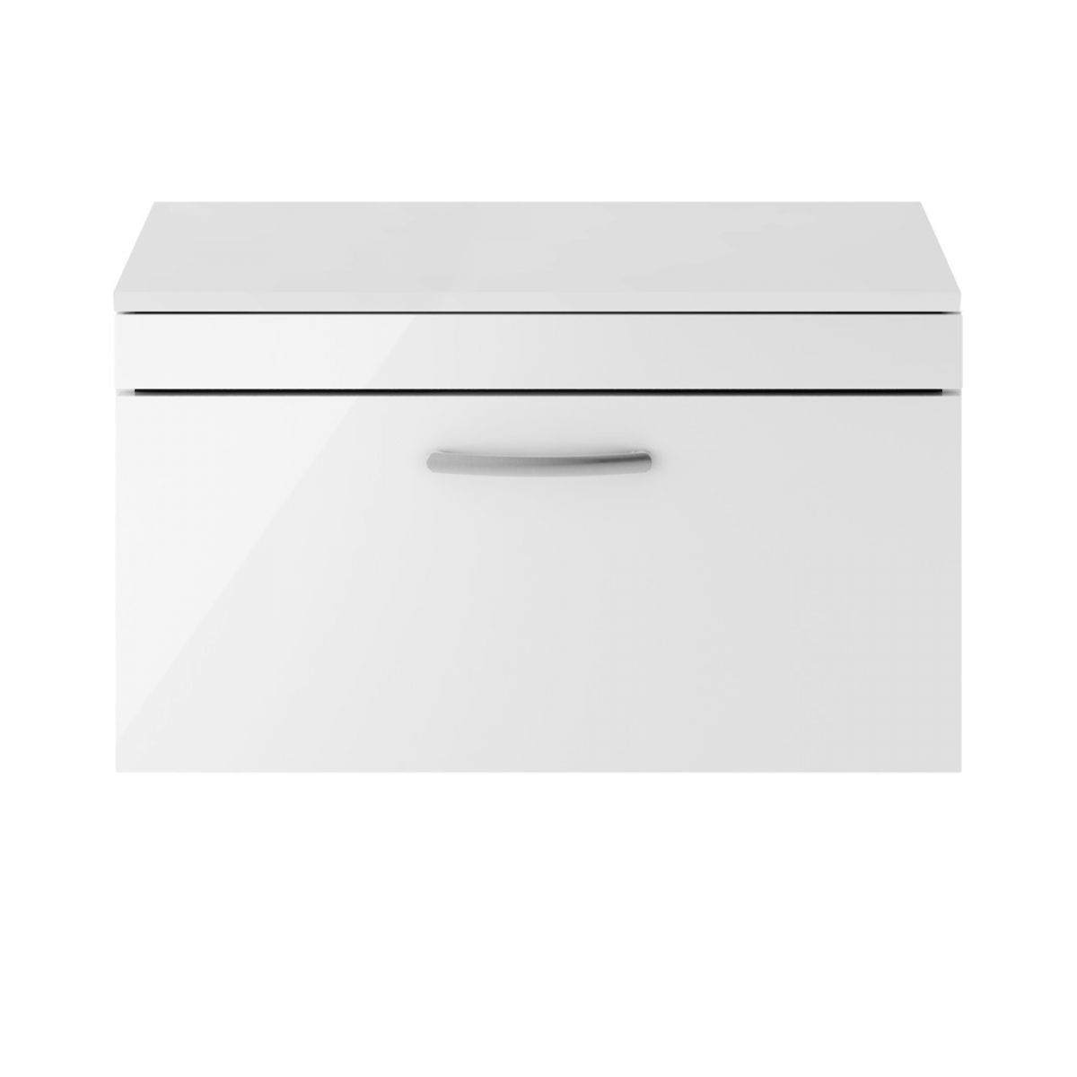 Premier Athena Gloss White 1 Drawer Wall Hung Vanity Unit 800mm with Worktop