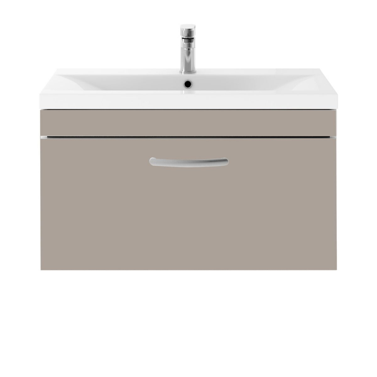 Premier Athena Stone Grey 1 Drawer Wall Hung Vanity Unit 800mm with Mid Edge Basin