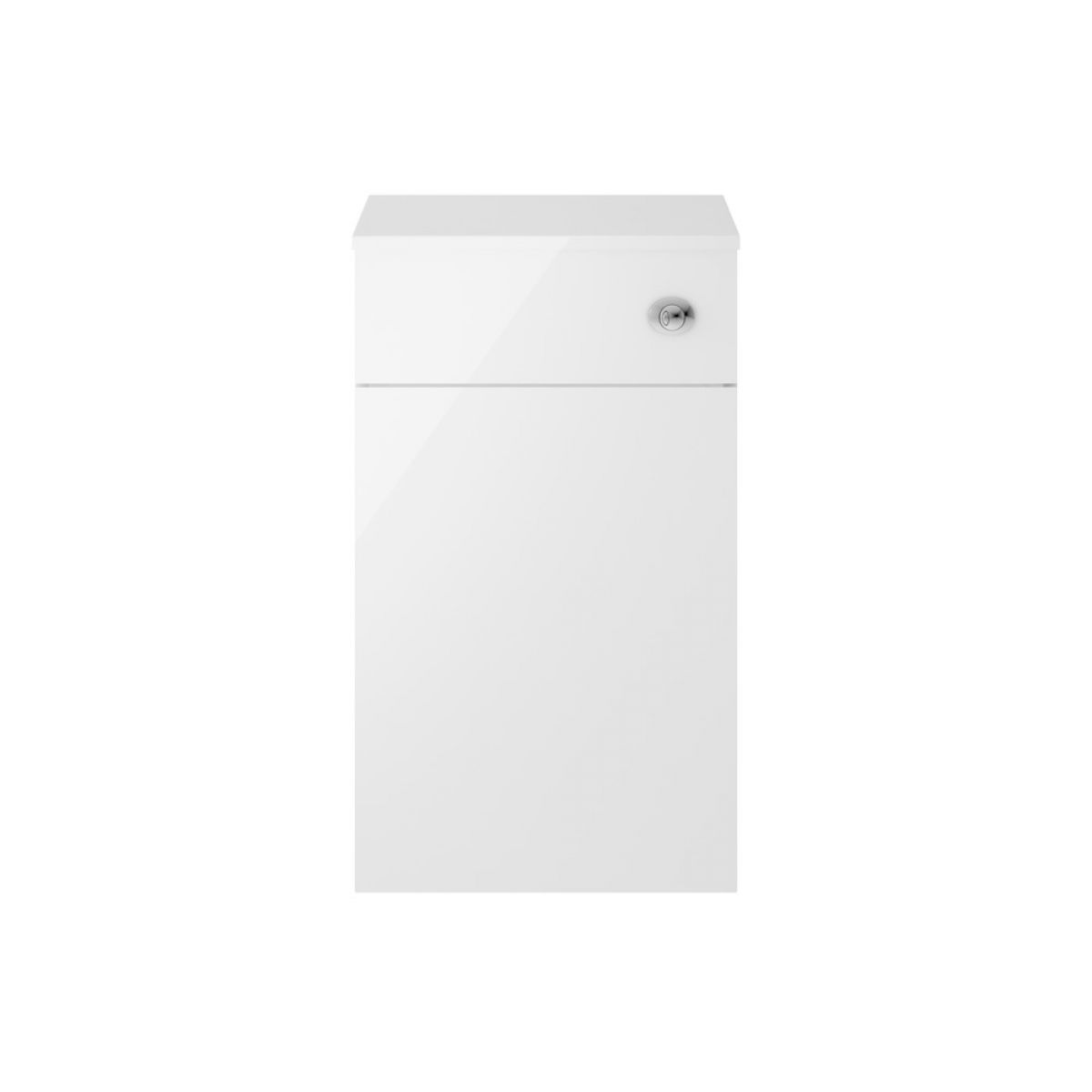 Premier Athena Gloss White Toilet Vanity Unit 500mm
