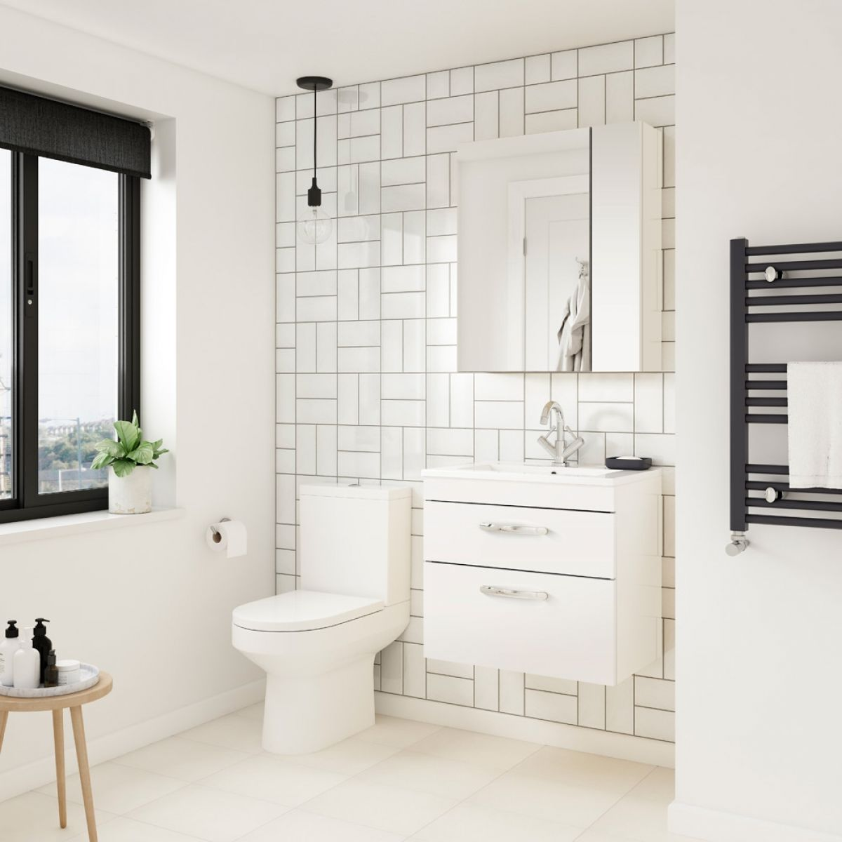Premier Athena Gloss White Bathroom Furniture