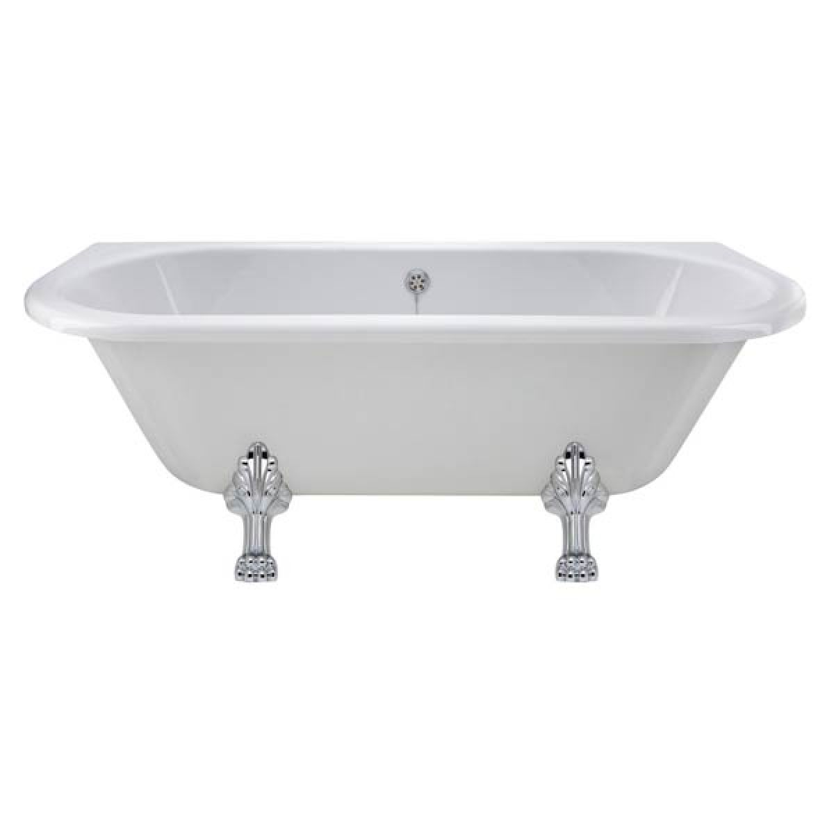 Premier Back to Wall Freestanding Bath with Pride Leg Set 1700mm
