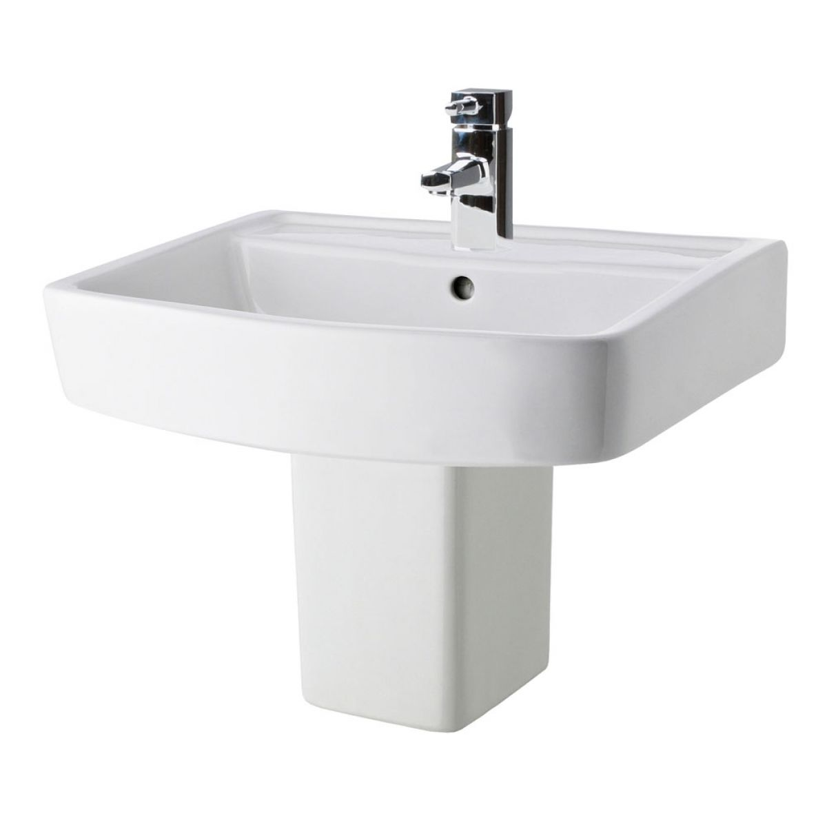 Premier Bliss 1 Tap Hole Basin and Semi Pedestal 520mm