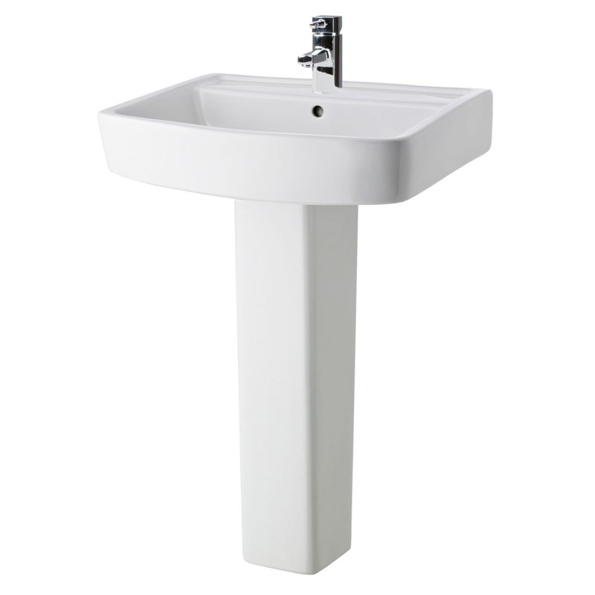 Premier Bliss 1 Tap Hole Basin with Full Pedestal 600mm