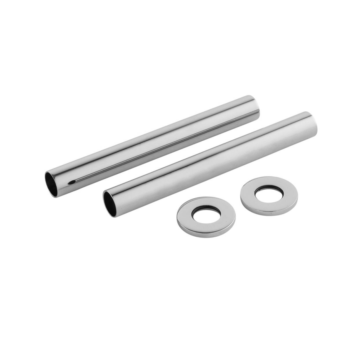 Hudson Reed Decorative Chrome Pipe Covers 128mm