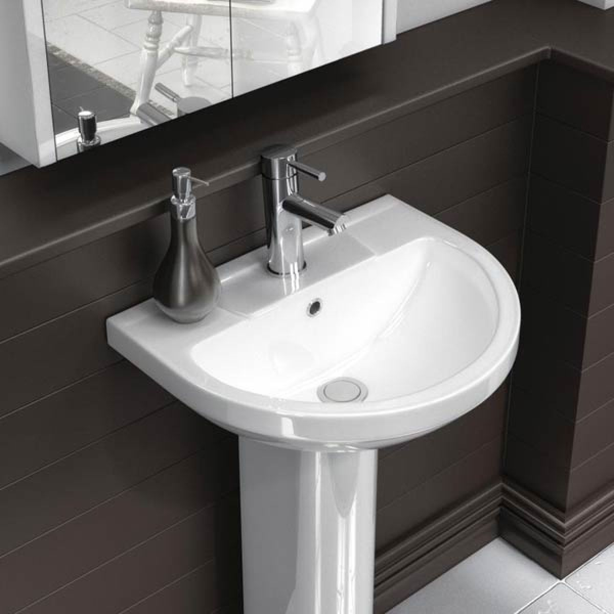 Premier Harmony Basin with Full Pedestal 500mm