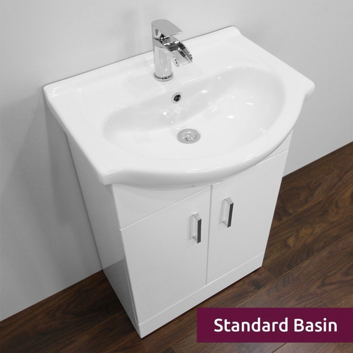 Premier High Gloss White Vanity Unit 550mm with Standard Basin