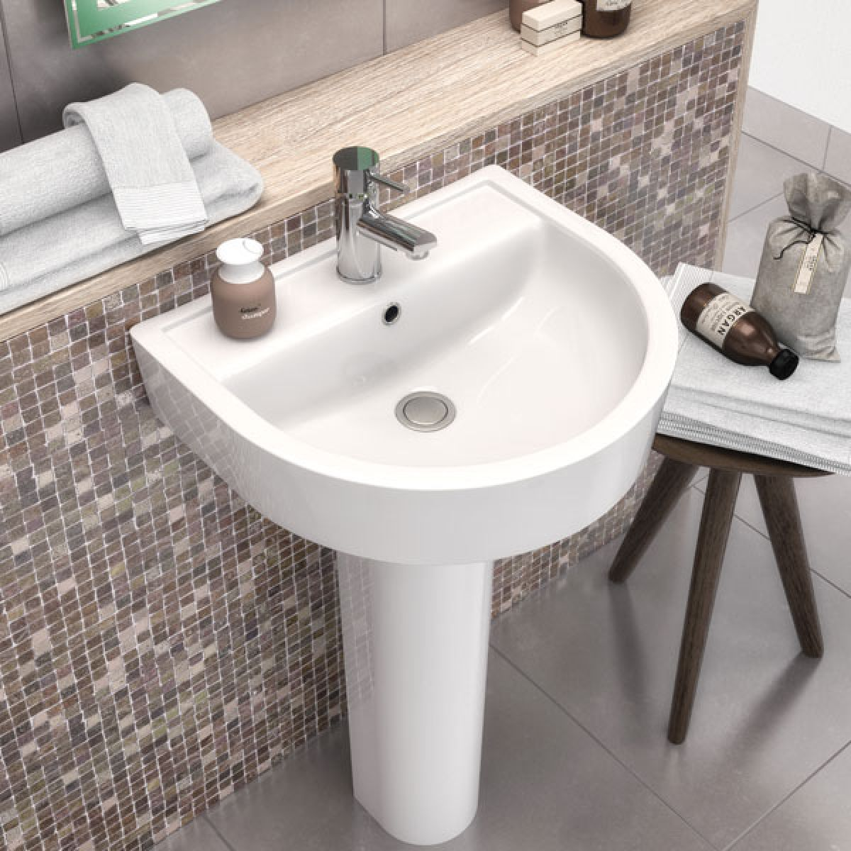 Premier Marlow Basin with Full Pedestal 420mm