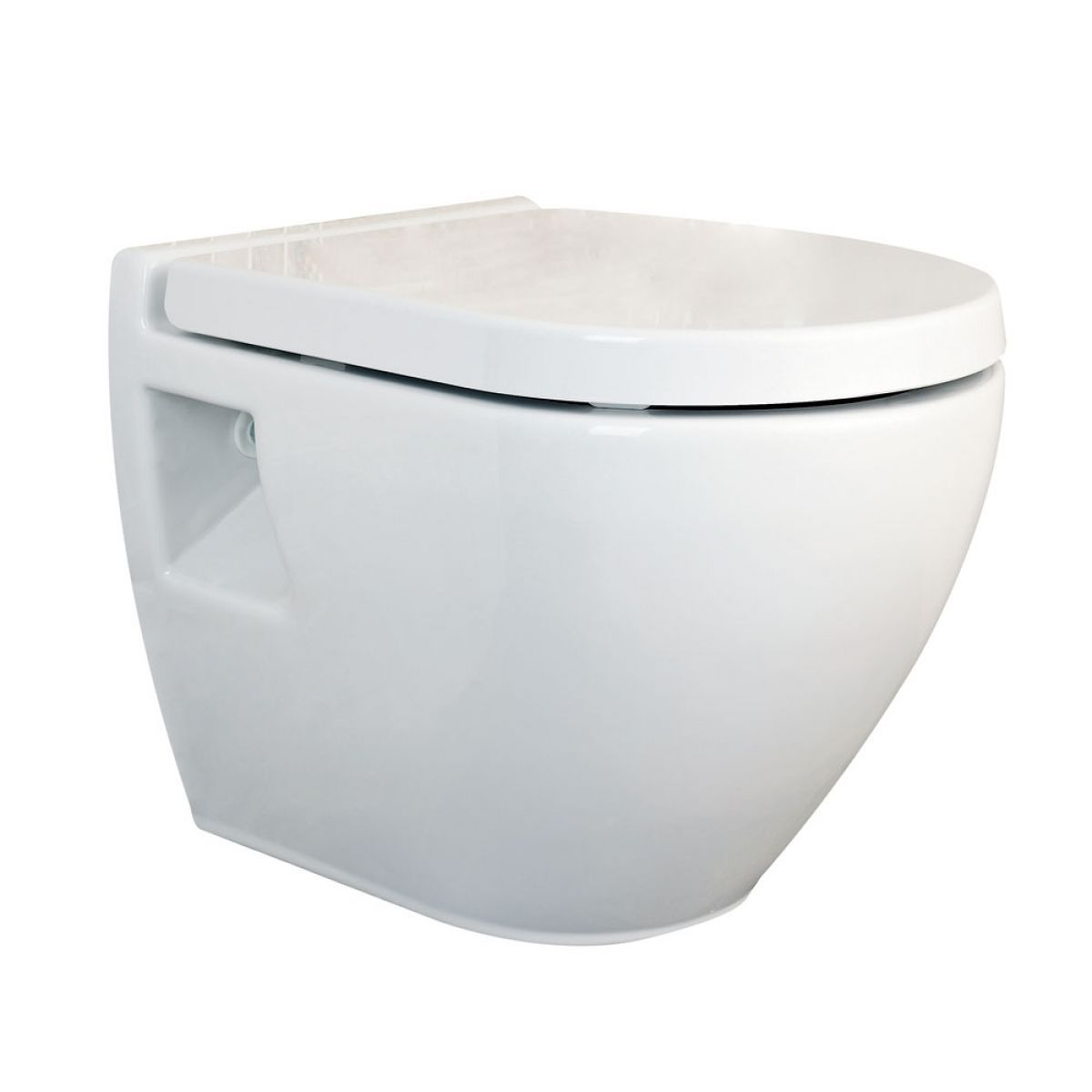 Hudson Reed Luna Round Wall Hung Toilet with Soft Close Seat