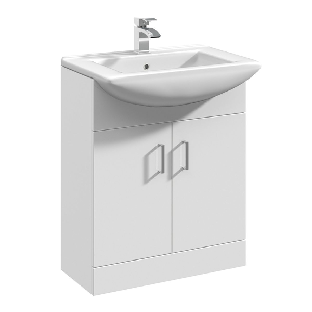 Premier High Gloss White Vanity Unit with Deluxe Basin 650mm