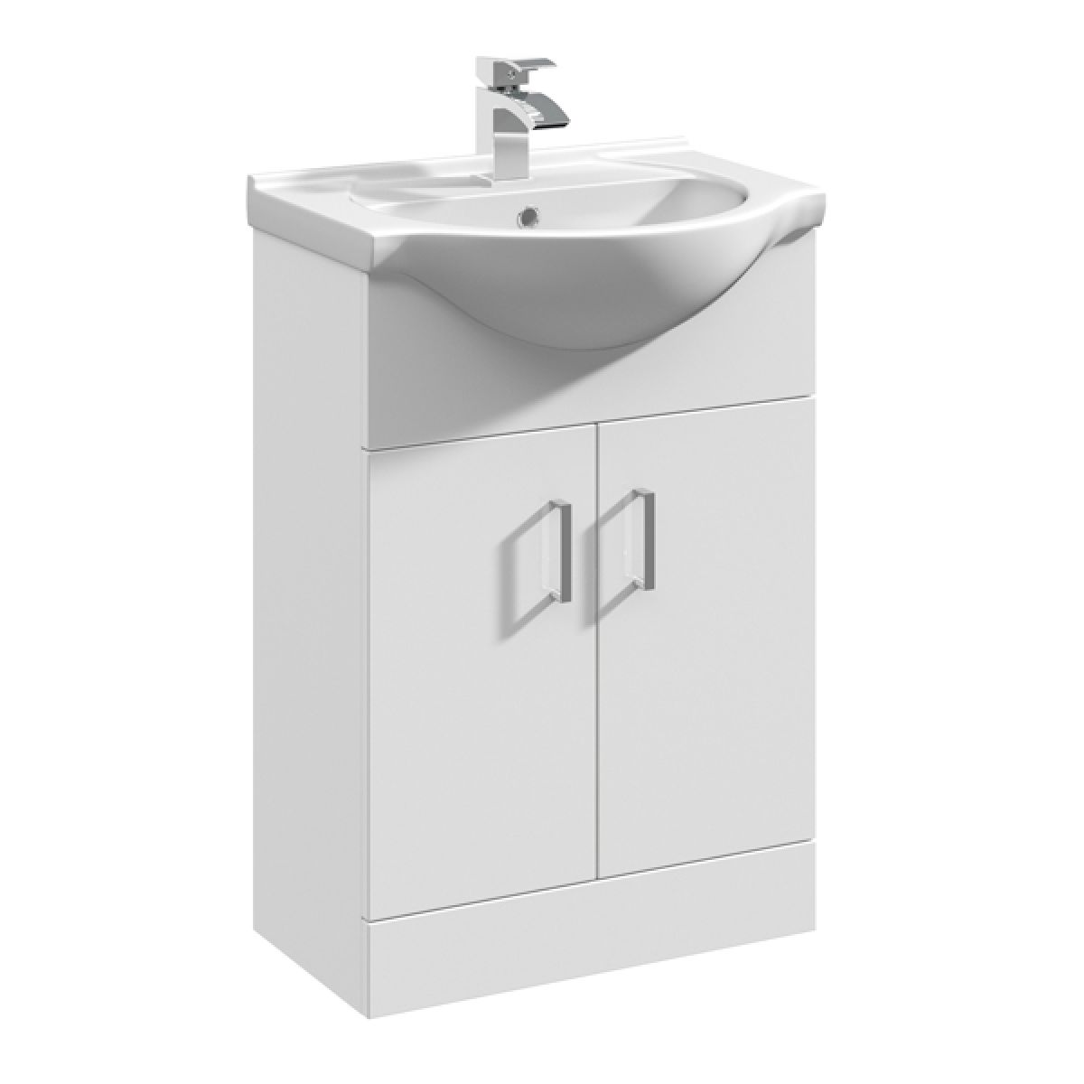 Premier High Gloss White Vanity Unit with Standard Basin 550mm