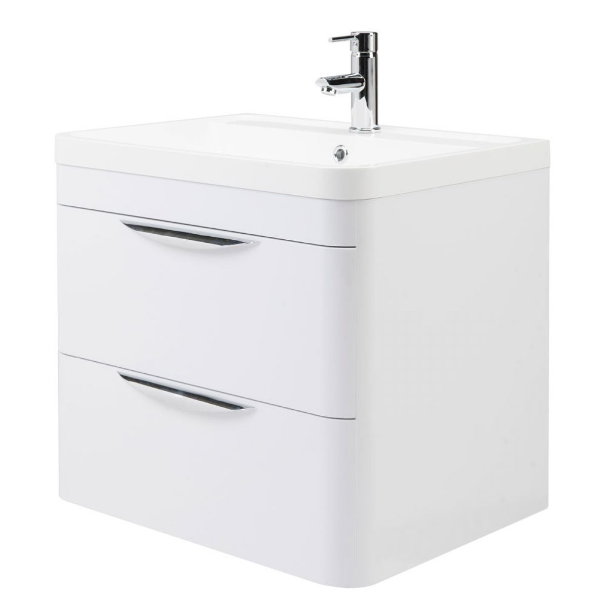Nuie Parade Gloss White Wall Hung Vanity Unit 600mm