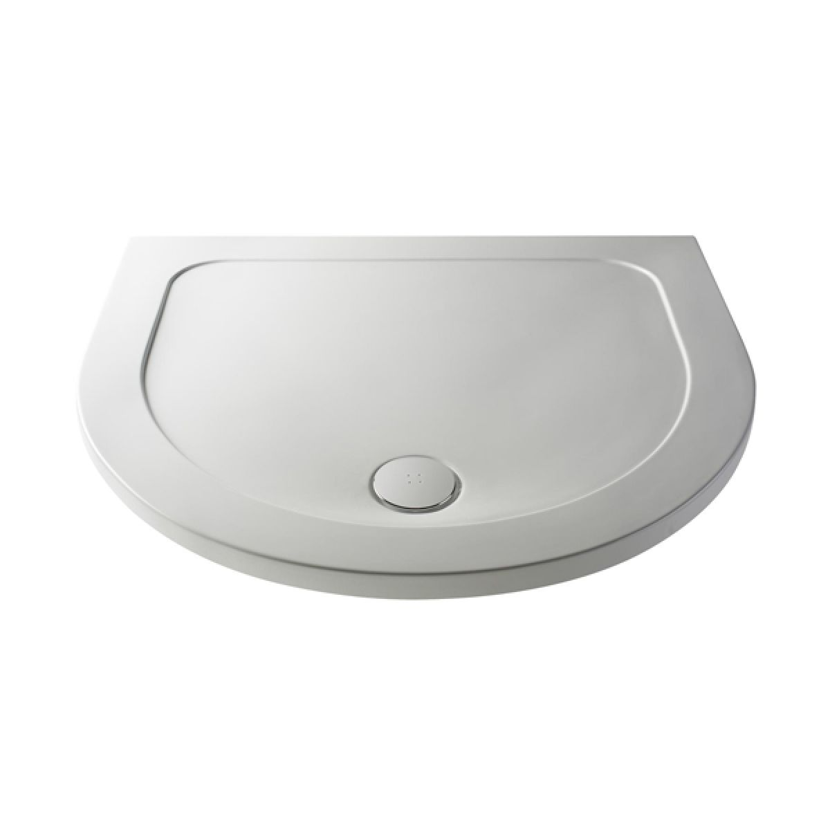 1050 Shower Tray D Shaped Low Profile by Pearlstone