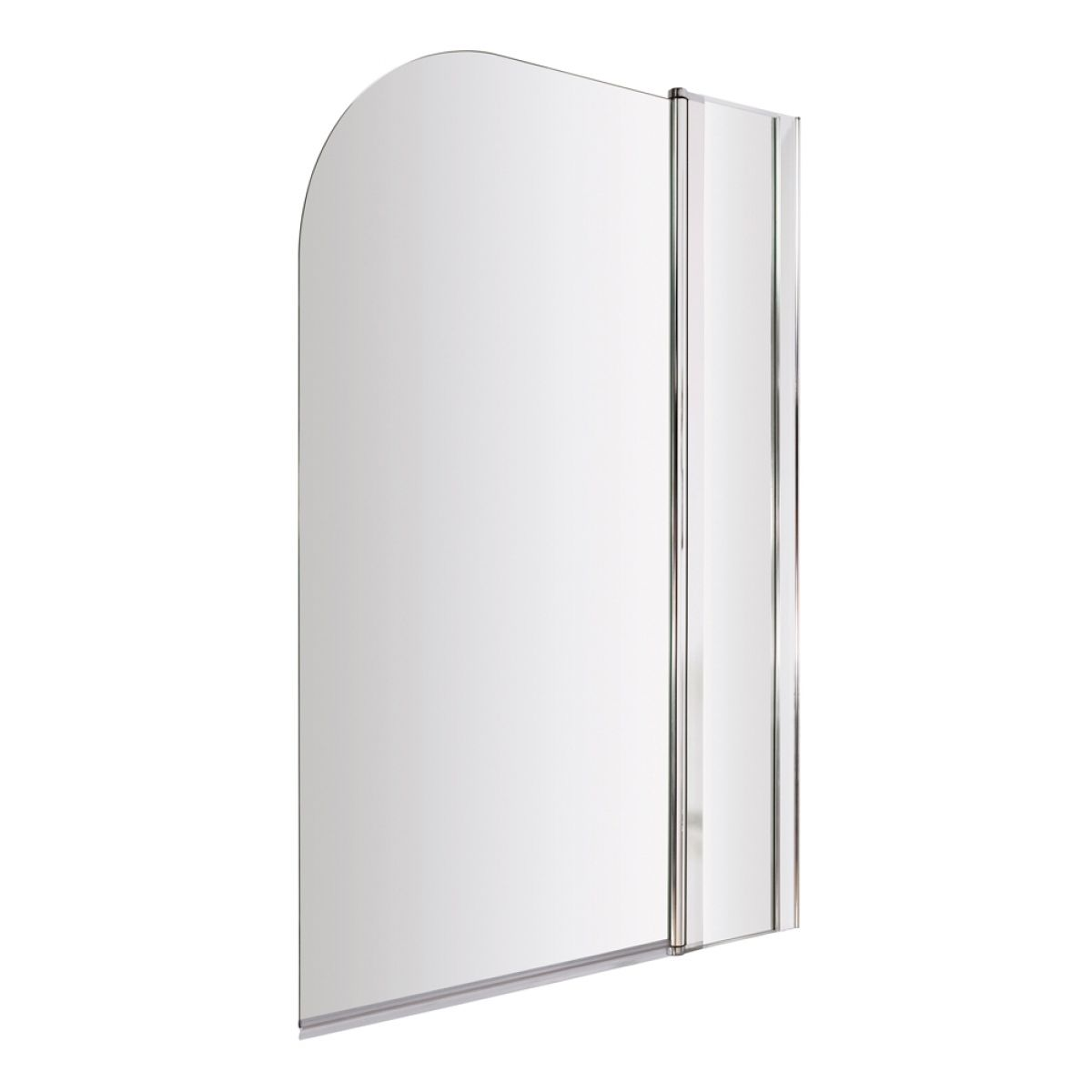 Premier Straight Curved Edge Bath Screen with Fixed Panel