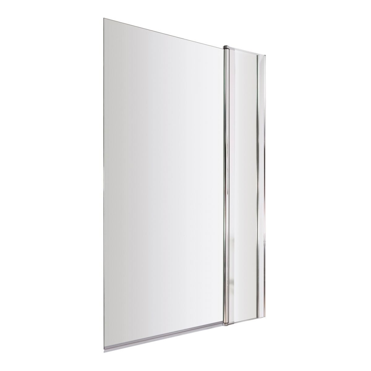 Premier Straight Square Edge Bath Screen with Fixed Panel