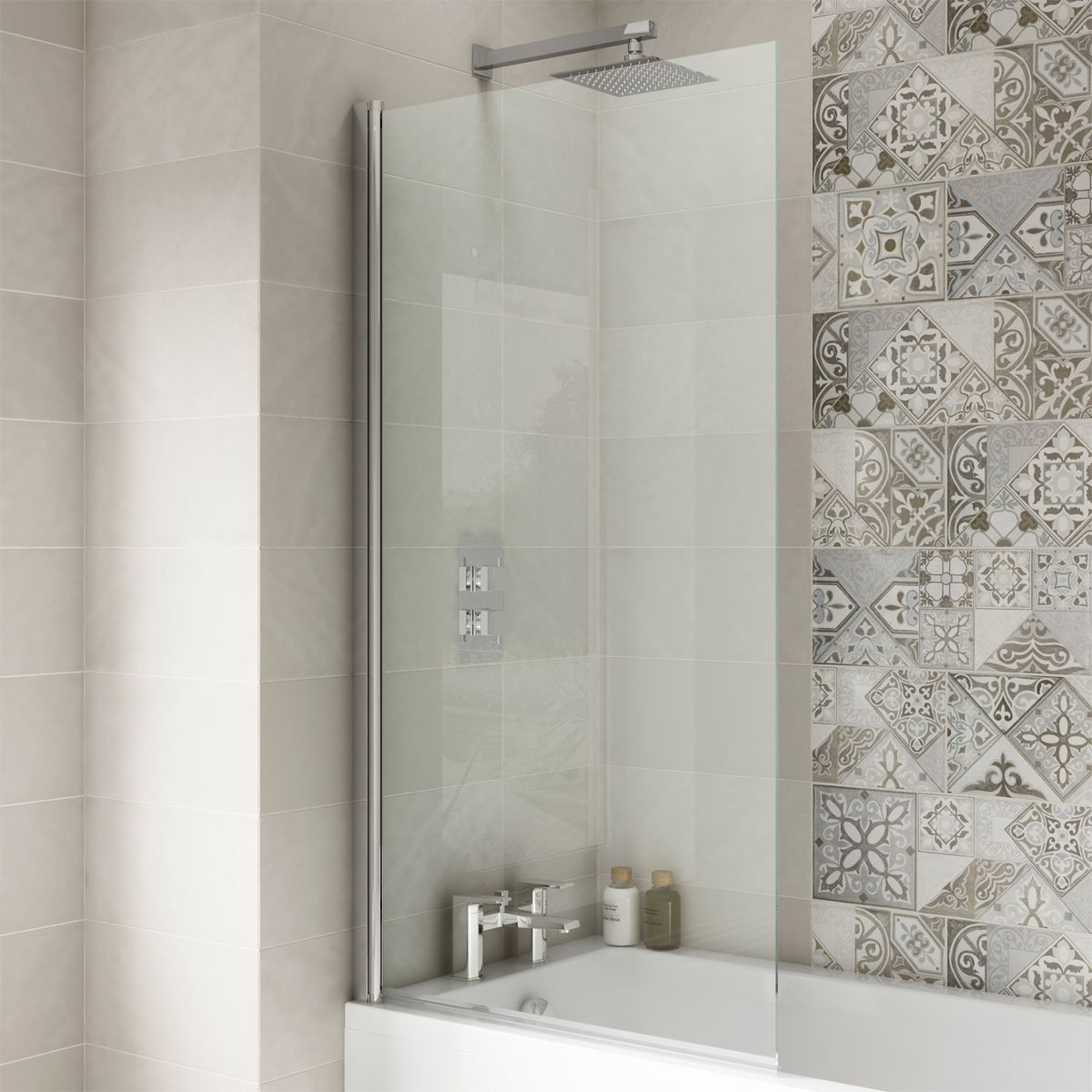 Premier Straight Square Edge Bath Screen