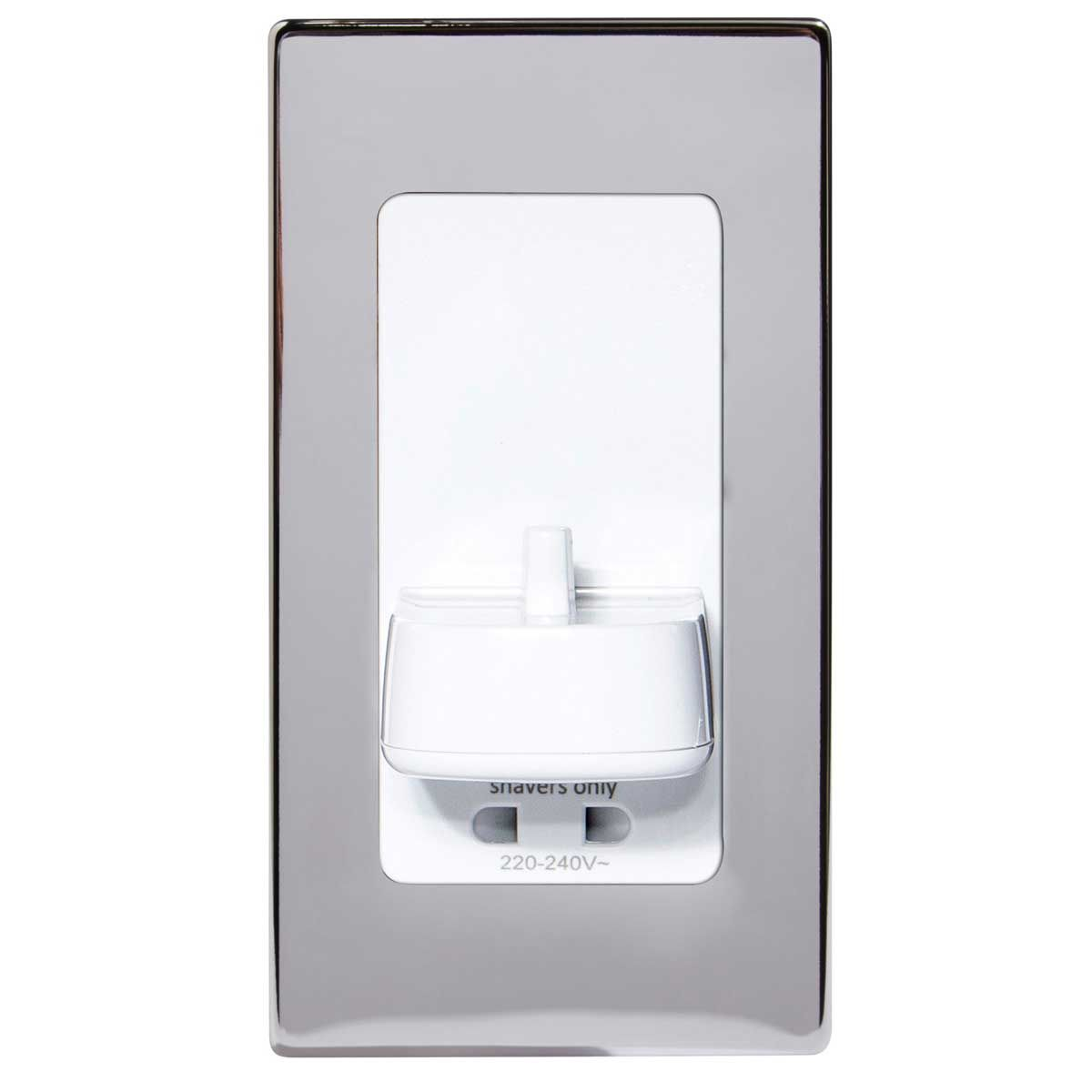 ProofVision TBCharge Electric Toothbrush Charger with Shaver Socket Polished Steel