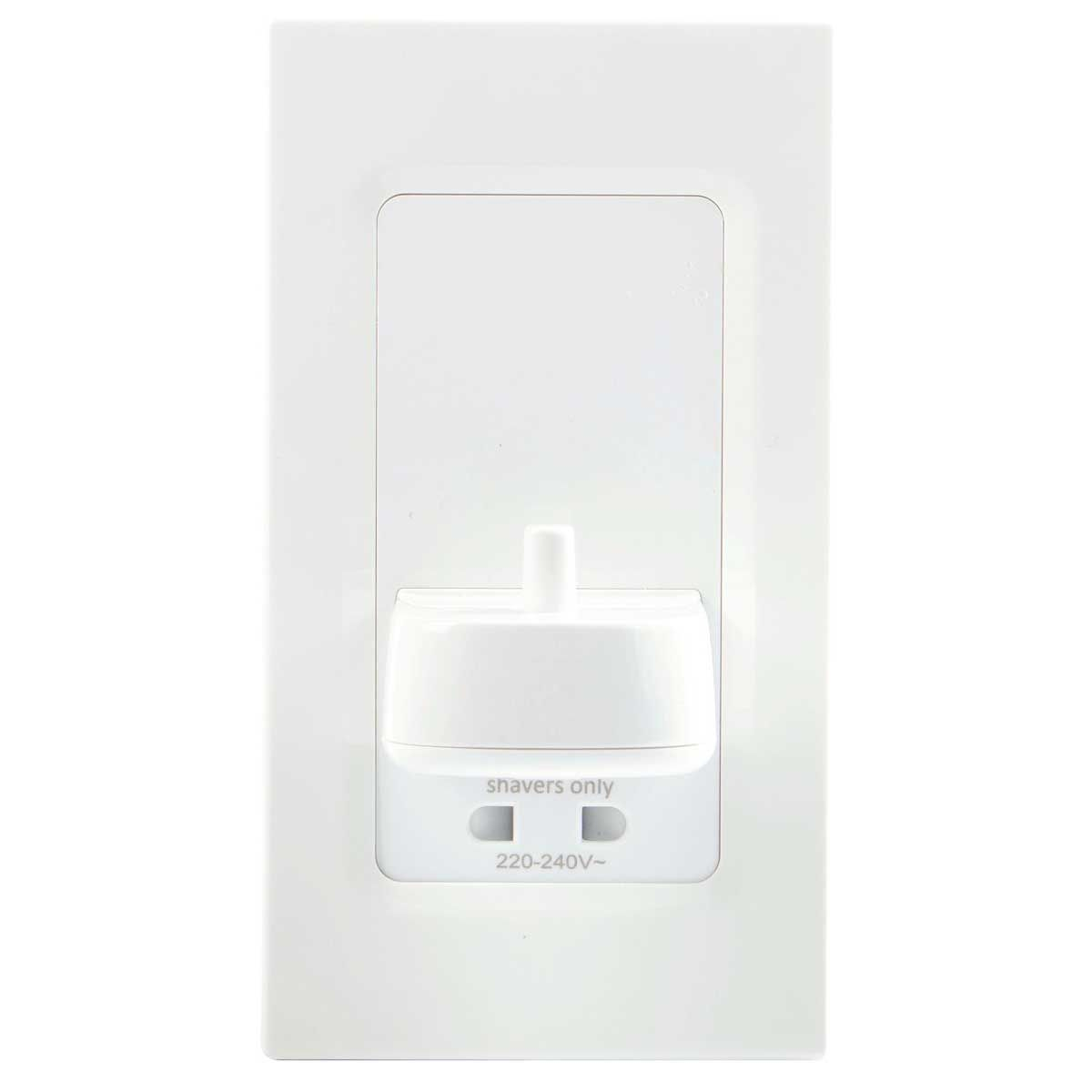 ProofVision TBCharge Electric Toothbrush Charger with Shaver Socket White