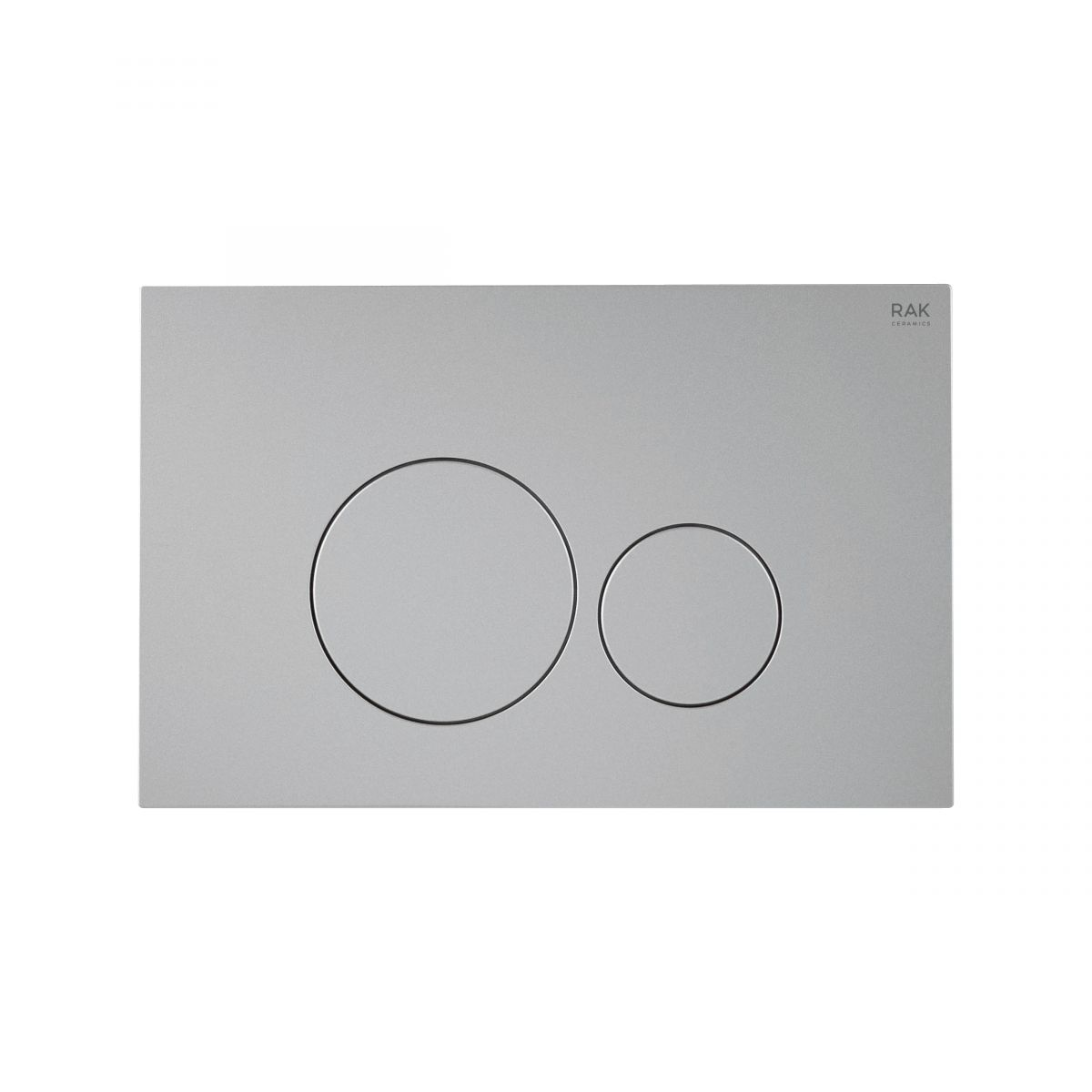 RAK Ecofix White Flush Plate with Round Push Buttons