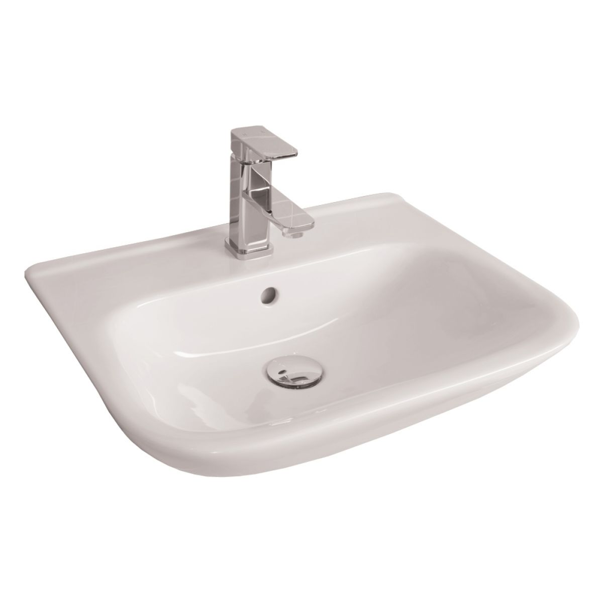 RAK Origin 62 1 Tap Hole Semi Recessed Basin 520mm