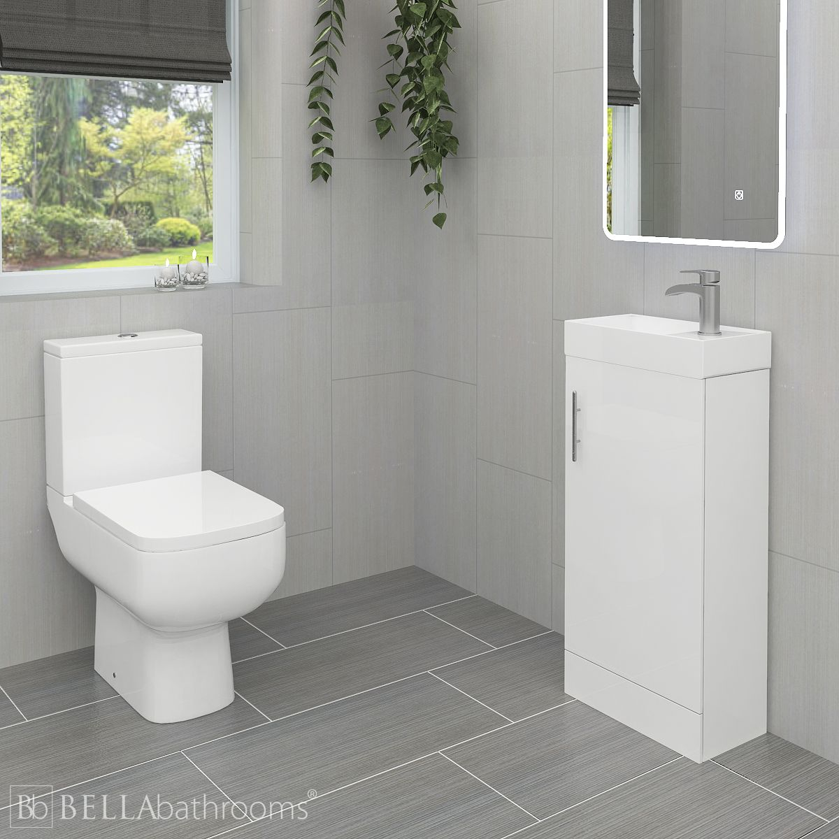 RAK Series 600 Toilet and 400 Series Gloss White Vanity Unit