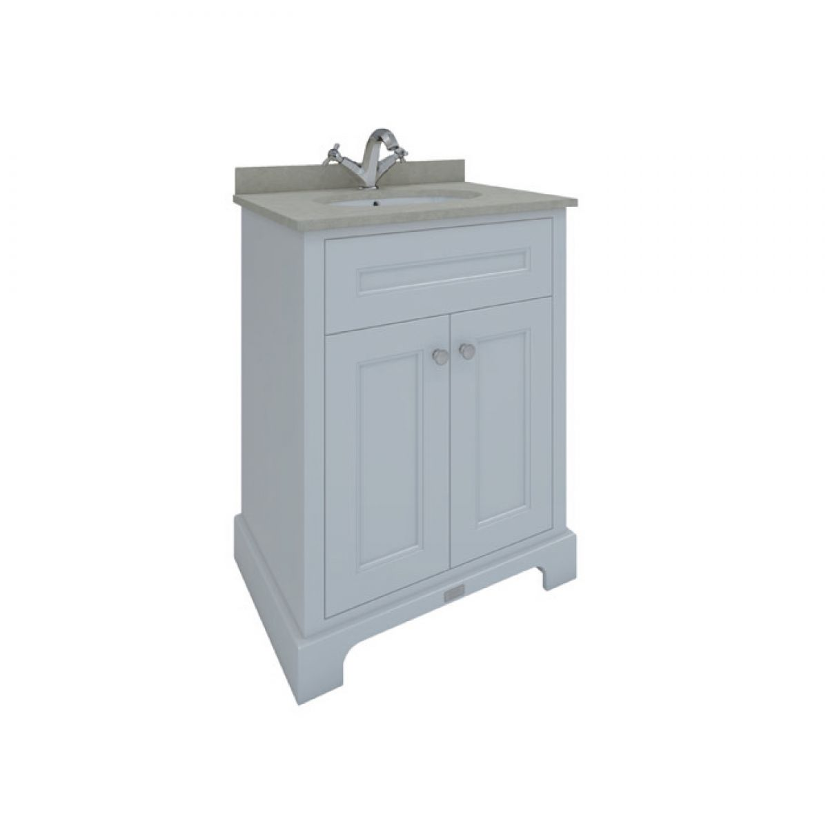 RAK Washington White Vanity Unit with Grey Countertop 600mm