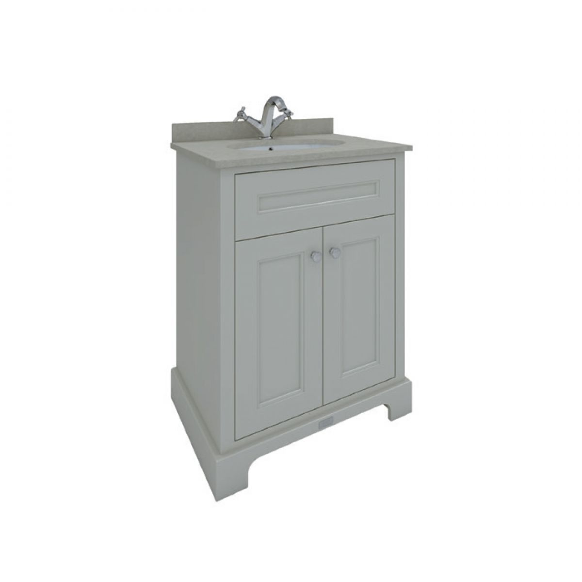 RAK Washington Greige Vanity Unit with Grey Countertop 600mm
