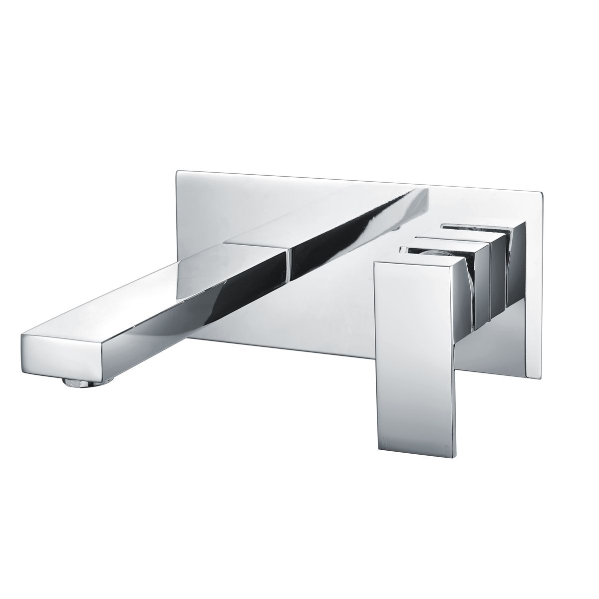 RAK Cubis Wall Mounted Basin Mixer Tap with Backplate