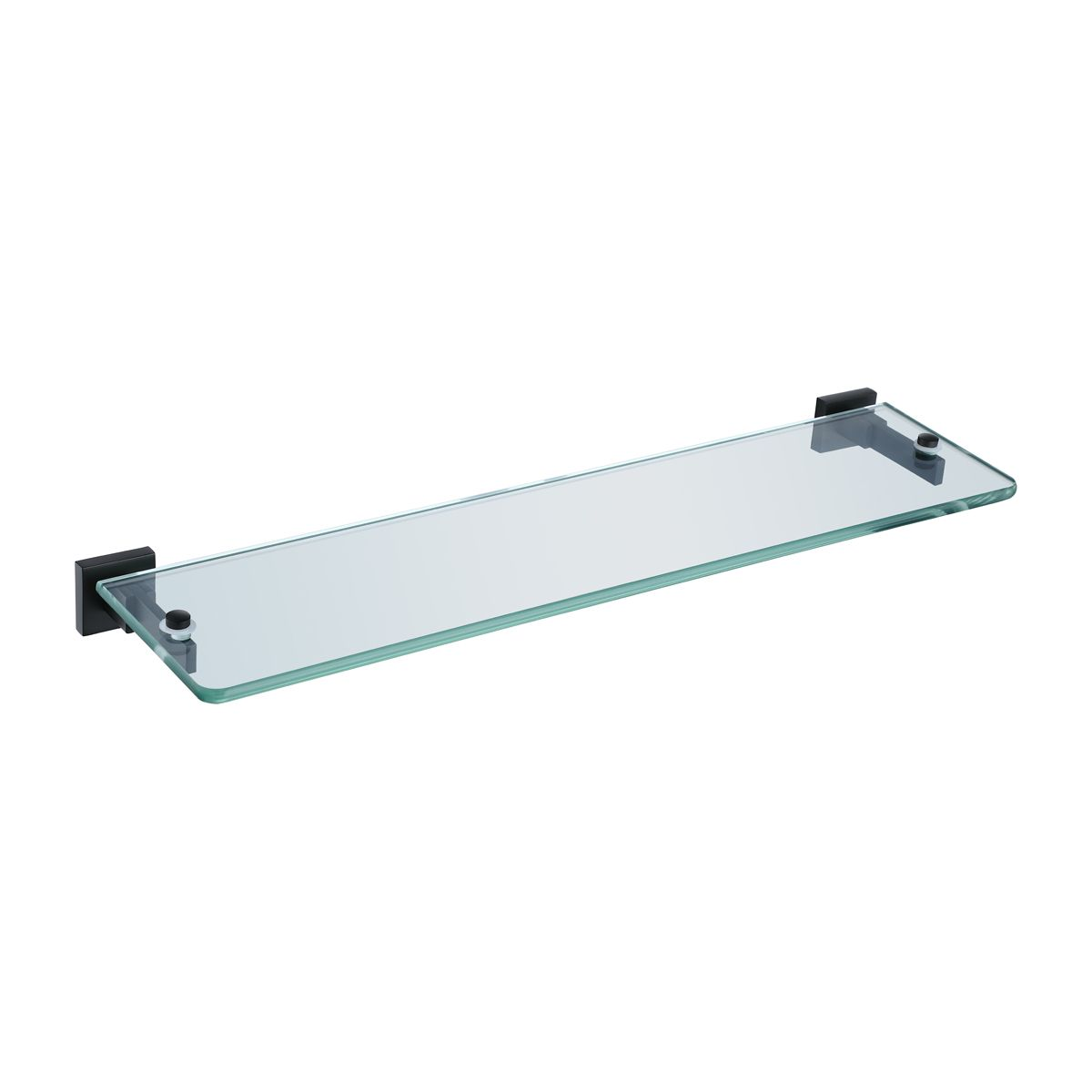 RAK Cubis Black Glass Shelf