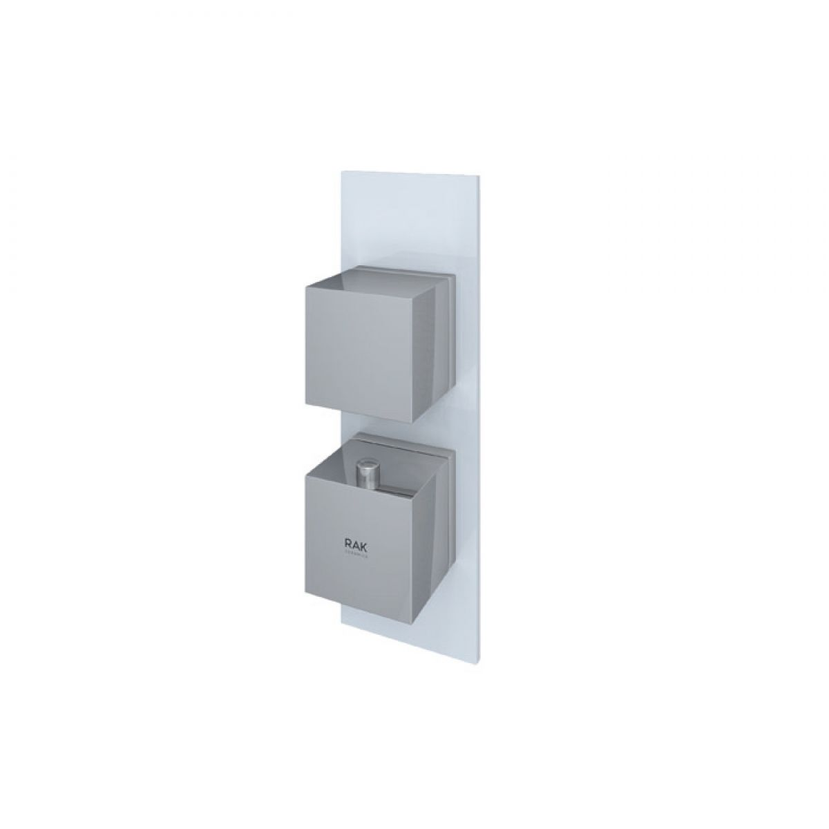 RAK Feeling White Square Single Outlet Thermostatic Shower Valve