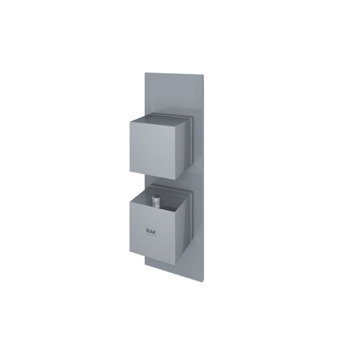RAK Feeling Grey Square Single Outlet Thermostatic Shower Valve