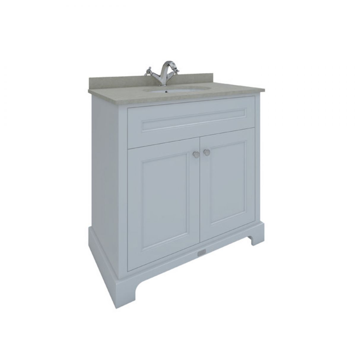 Rak Washington White Vanity Unit With Grey Countertop 800mm