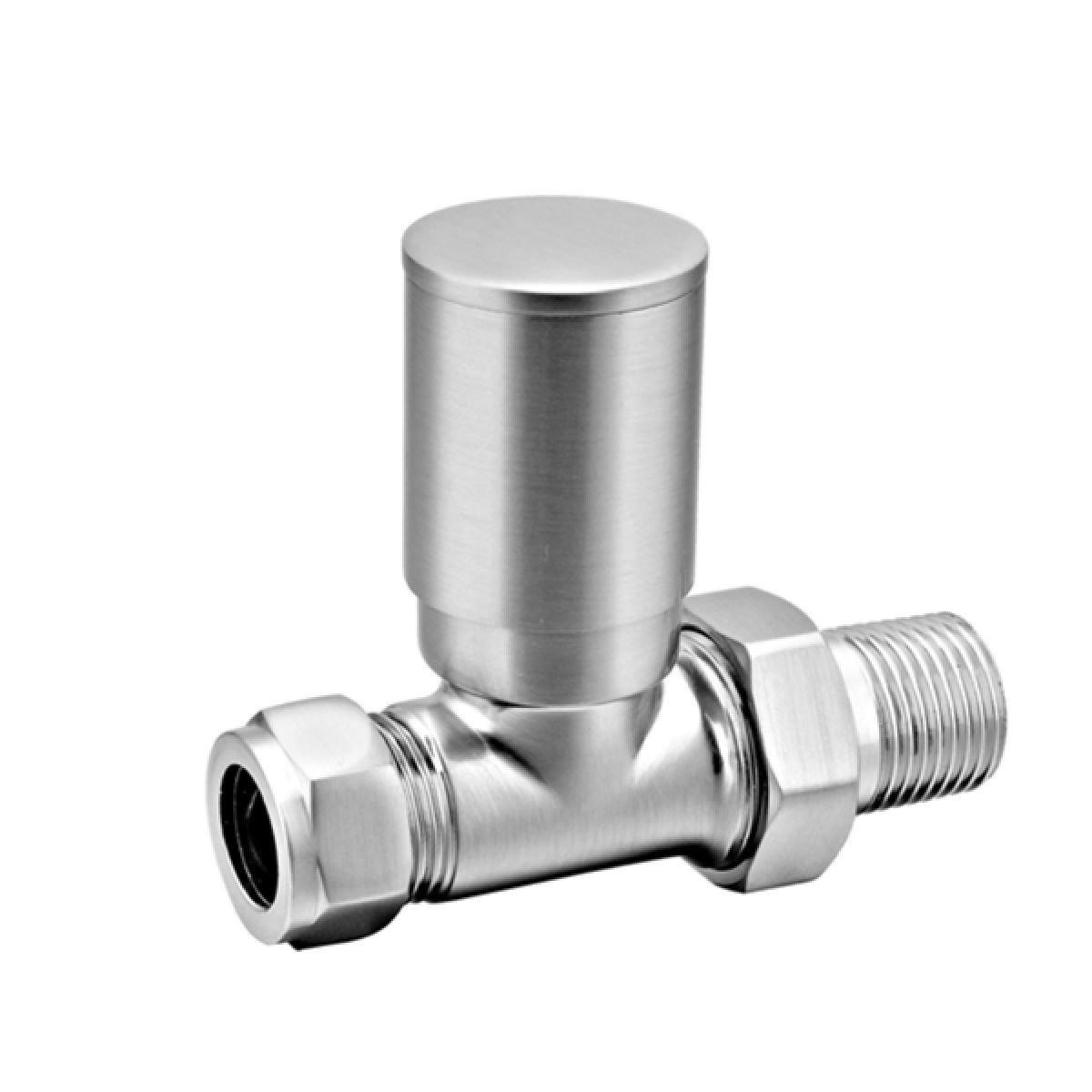 Reina Portland Brushed Straight Radiator Valve