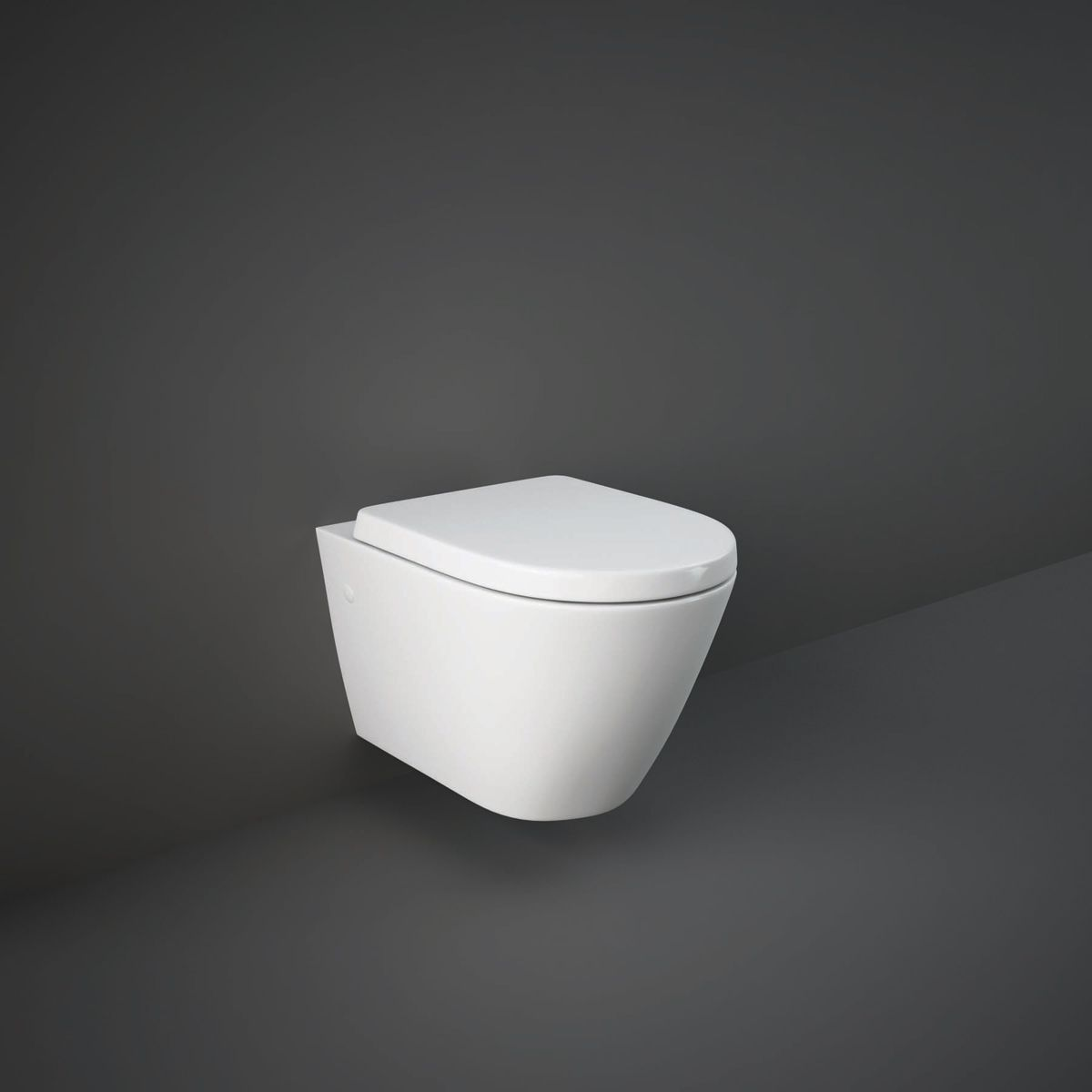 RAK Resort Wall Hung Hidden Fixation Toilet with Wrap Over Soft Close Seat
