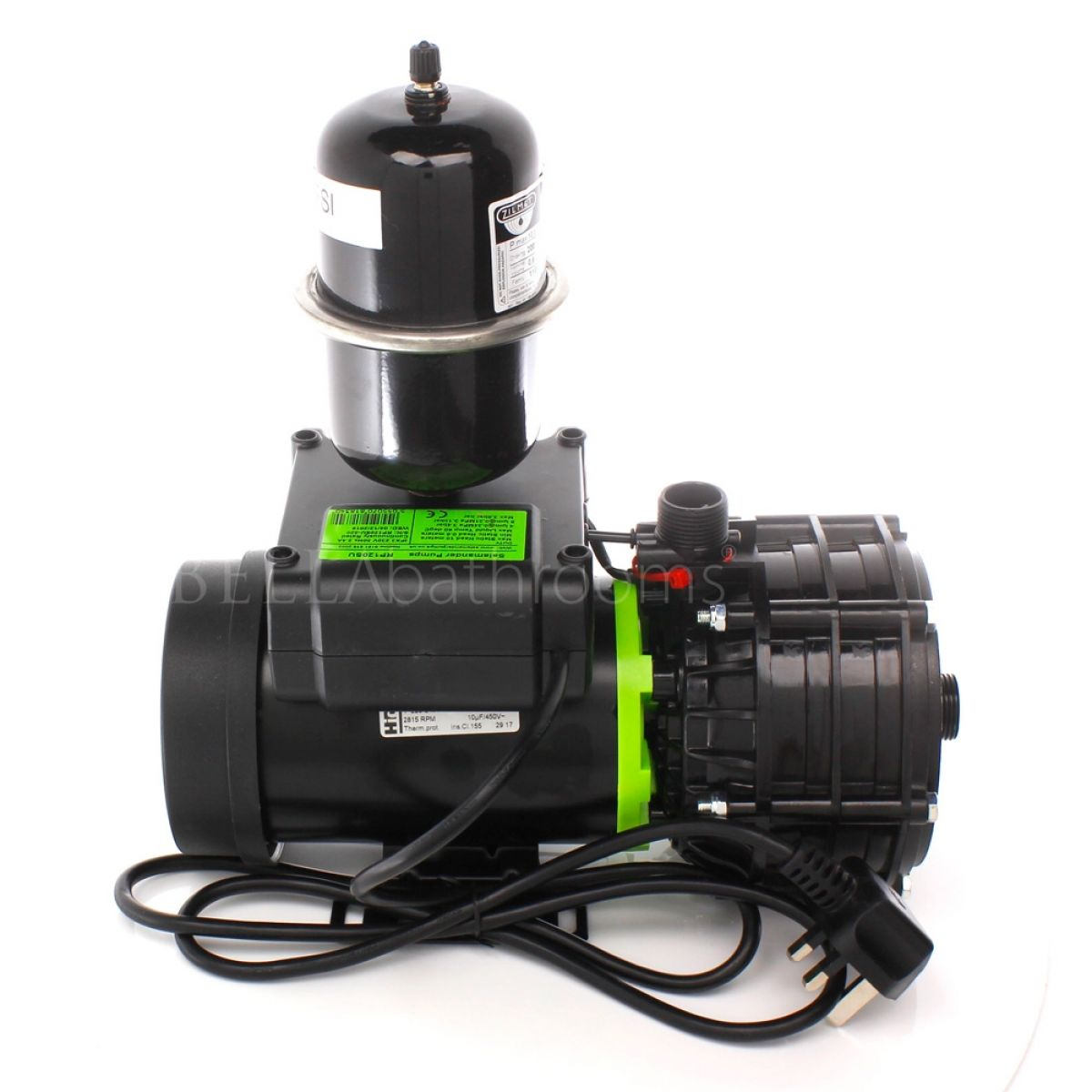Salamander RP120SU 3.6 Bar Single Universal Whole House Shower Pump Back