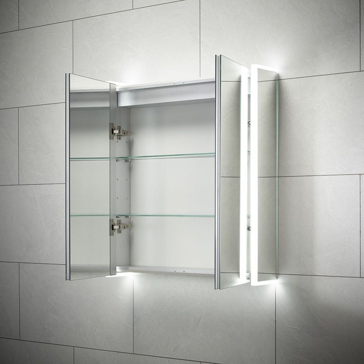 Sensio Ainsley Double Diffused LED Mirrored Cabinet Internal