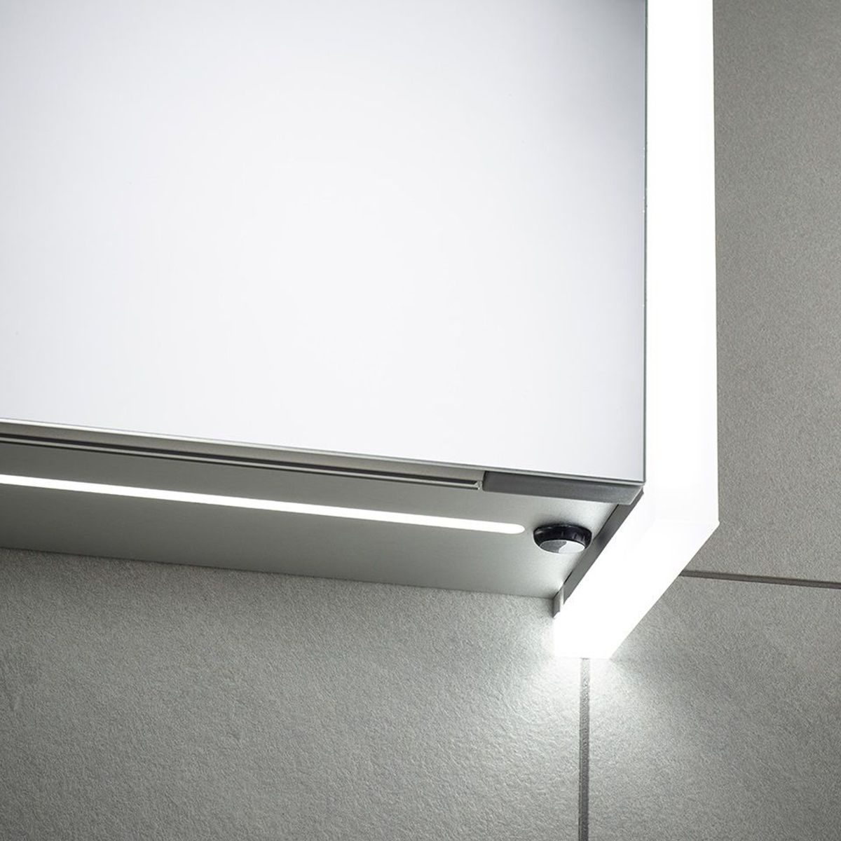 Sensio Ainsley Single Diffused LED Mirrored Cabinet Switch