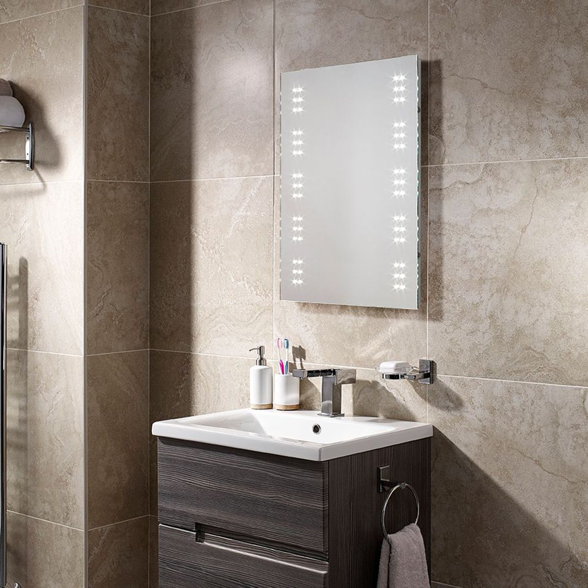 Sensio Ava LED Battery Operated Mirror 700 x 500 x 30 2