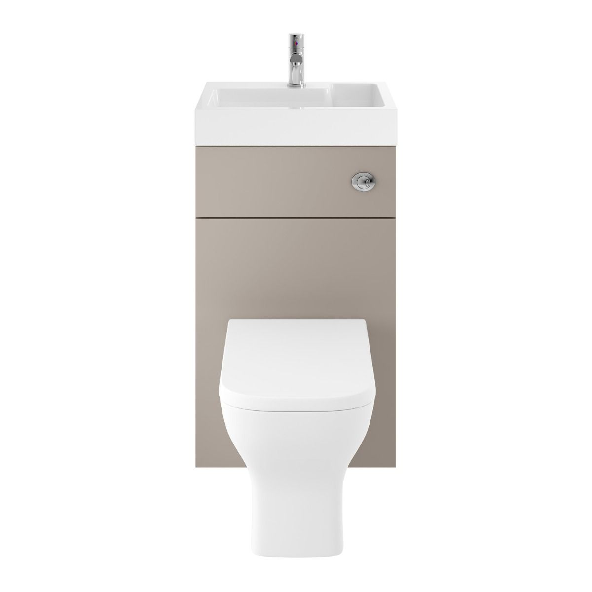 Stone Grey Toilet with Integrated Basin