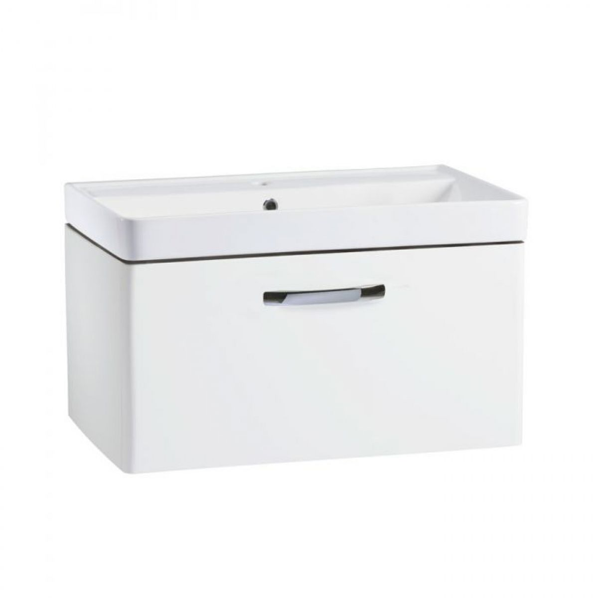Tavistock Compass Gloss White Wall Mounted Vanity Unit 800mm
