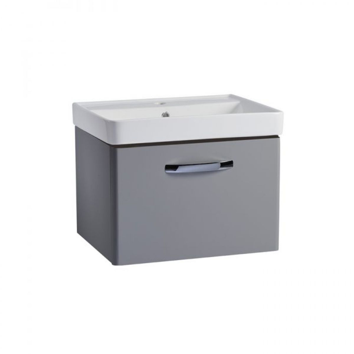 Tavistock Compass Grey Wall Mounted Vanity Unit 600mm