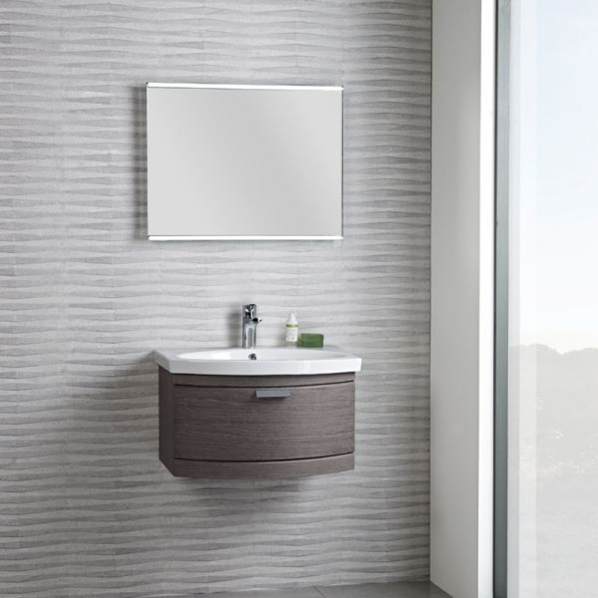 Tavistock Tempo 650 Dark Java Wall Mounted Unit - Lifestyle