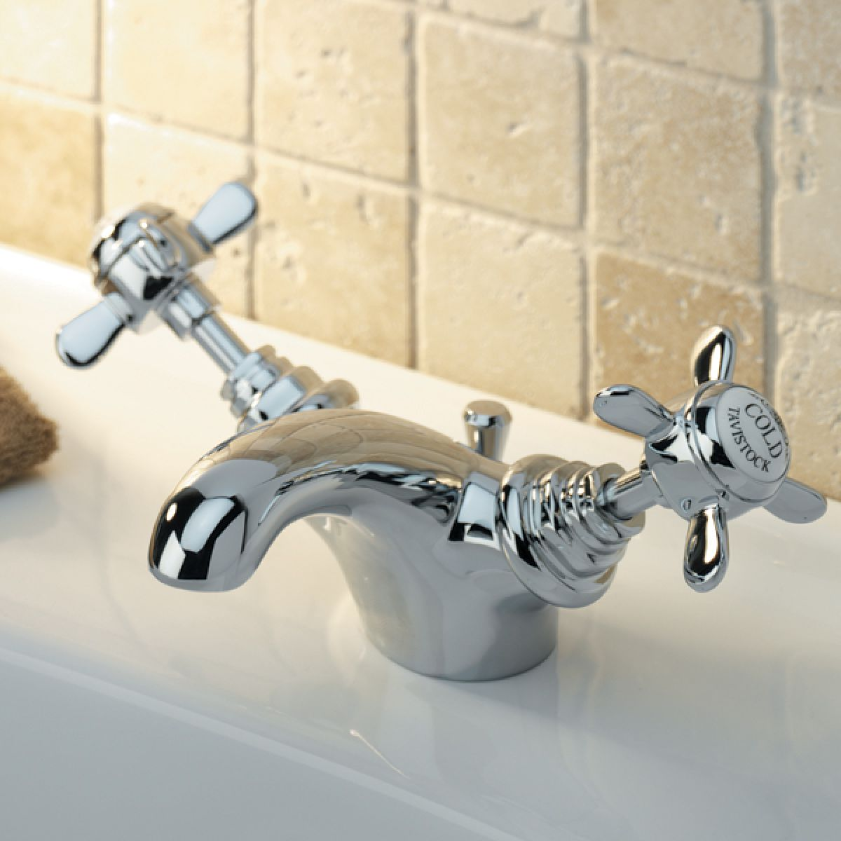 Tavistock Varsity Basin Mixer Tap with Pop Up Waste in Situation