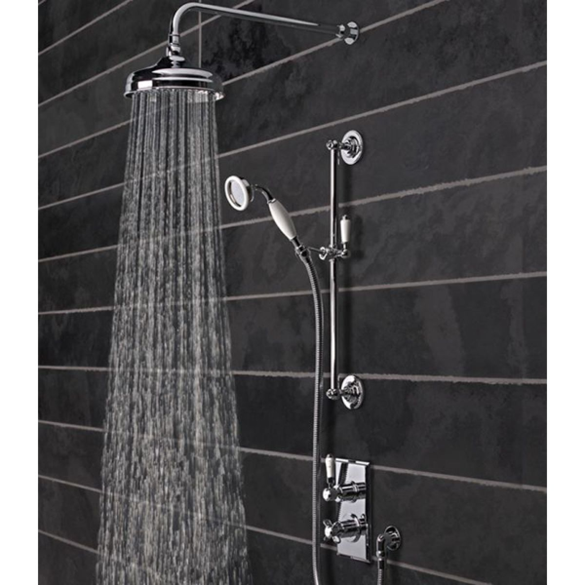 Tavistock Varsity Thermostatic Concealed Dual Function Shower System - Lifestyle